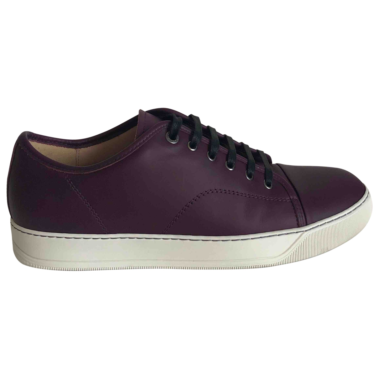 Lanvin \N Purple Leather Trainers for Men 10 UK
