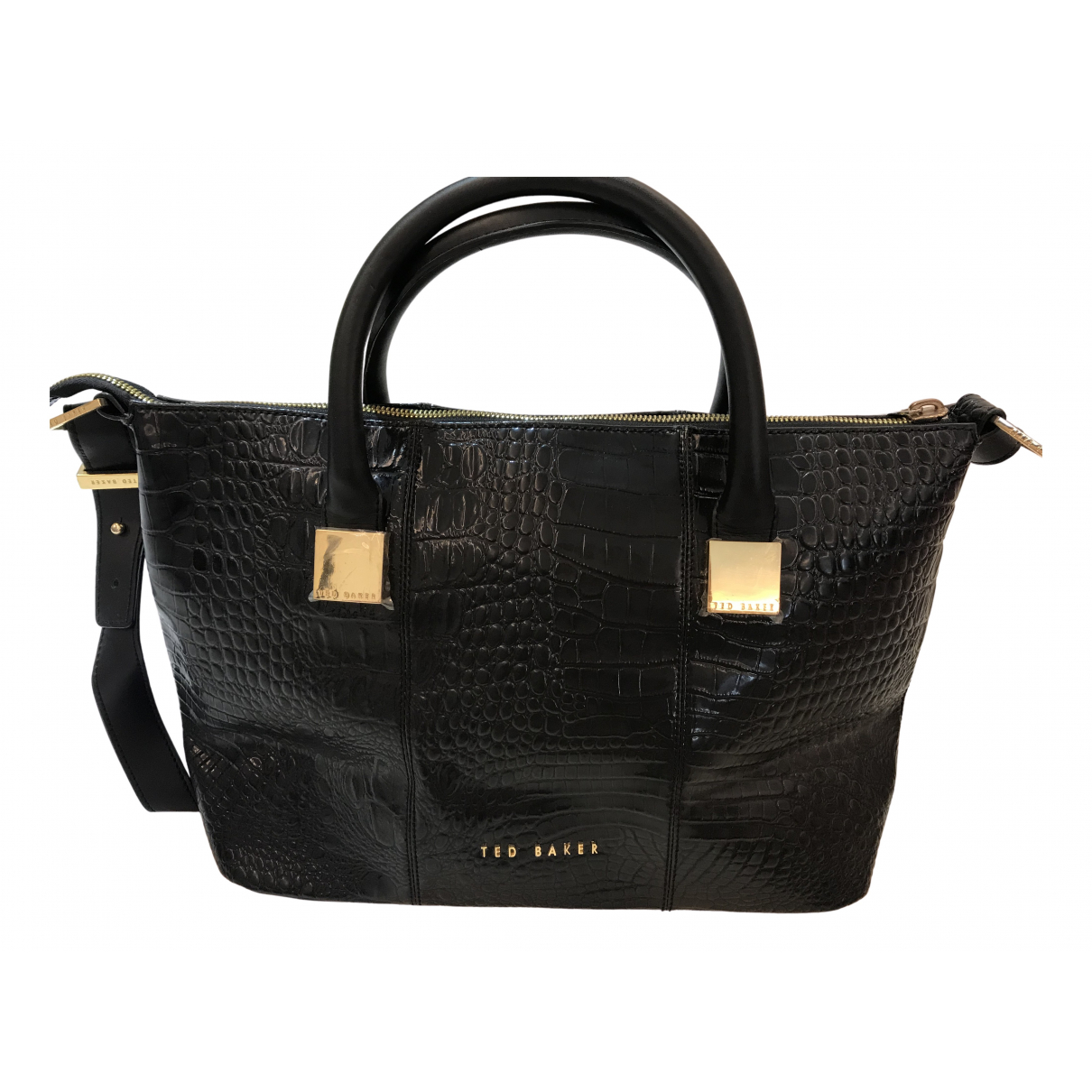 Ted Baker \N Handtasche in  Schwarz Leder