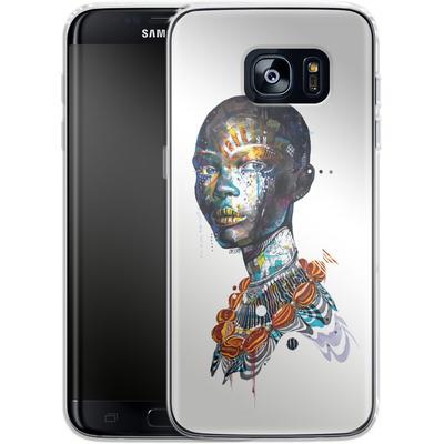 Samsung Galaxy S7 Edge Silikon Handyhuelle - Zebra von Minjae Lee