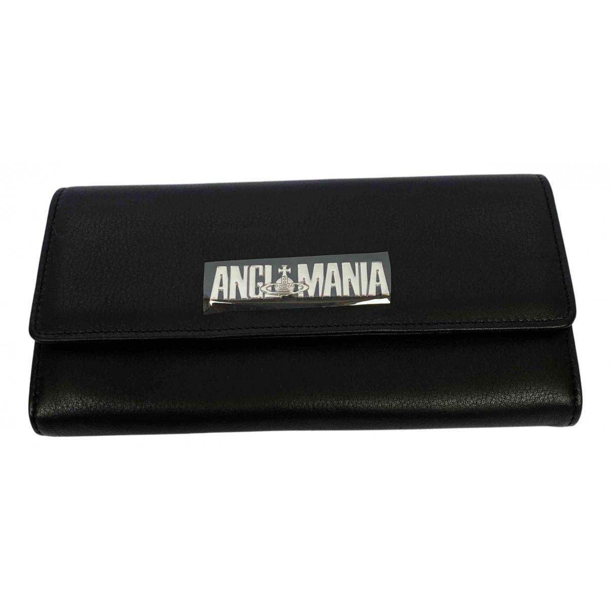Vivienne Westwood Anglomania - Portefeuille   pour femme en cuir - noir
