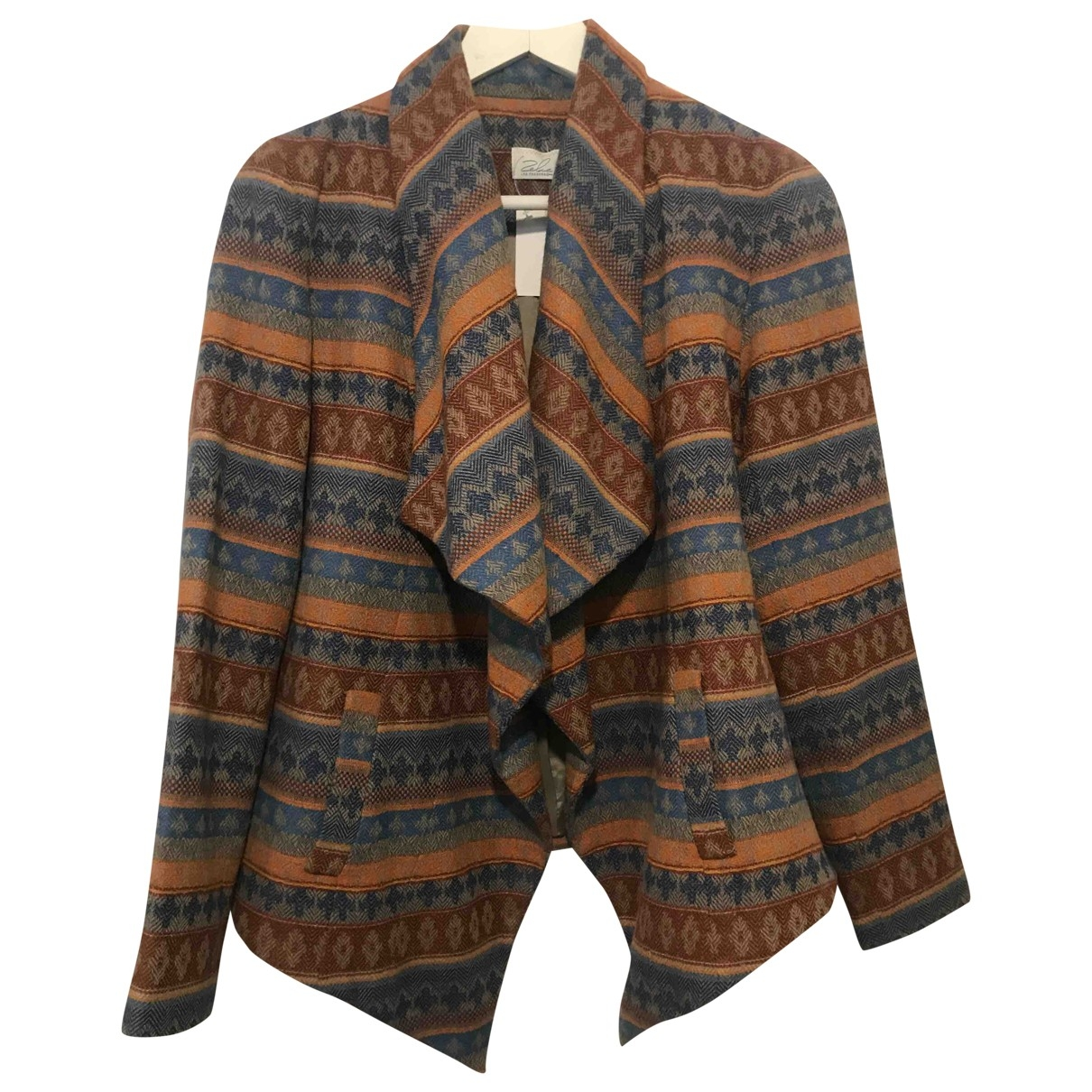 Non Signé / Unsigned Hippie Chic Multicolour Wool coat for Women S International