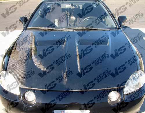 VIS Racing 99HDCVC2DGT-010C Carbon Fiber Xtreme GT Hood Honda Civic 99-00