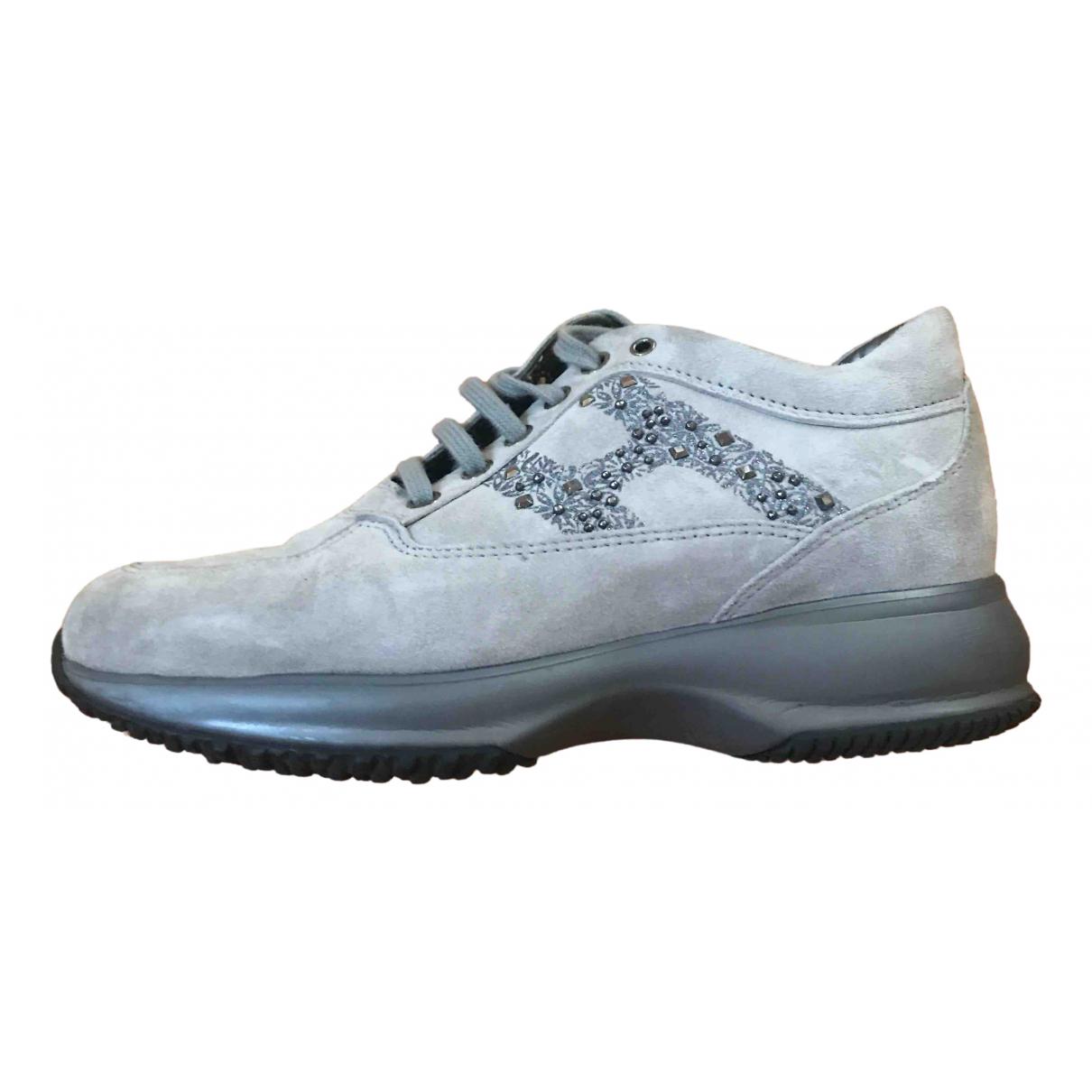 Hogan \N Sneakers in  Grau Mit Pailletten