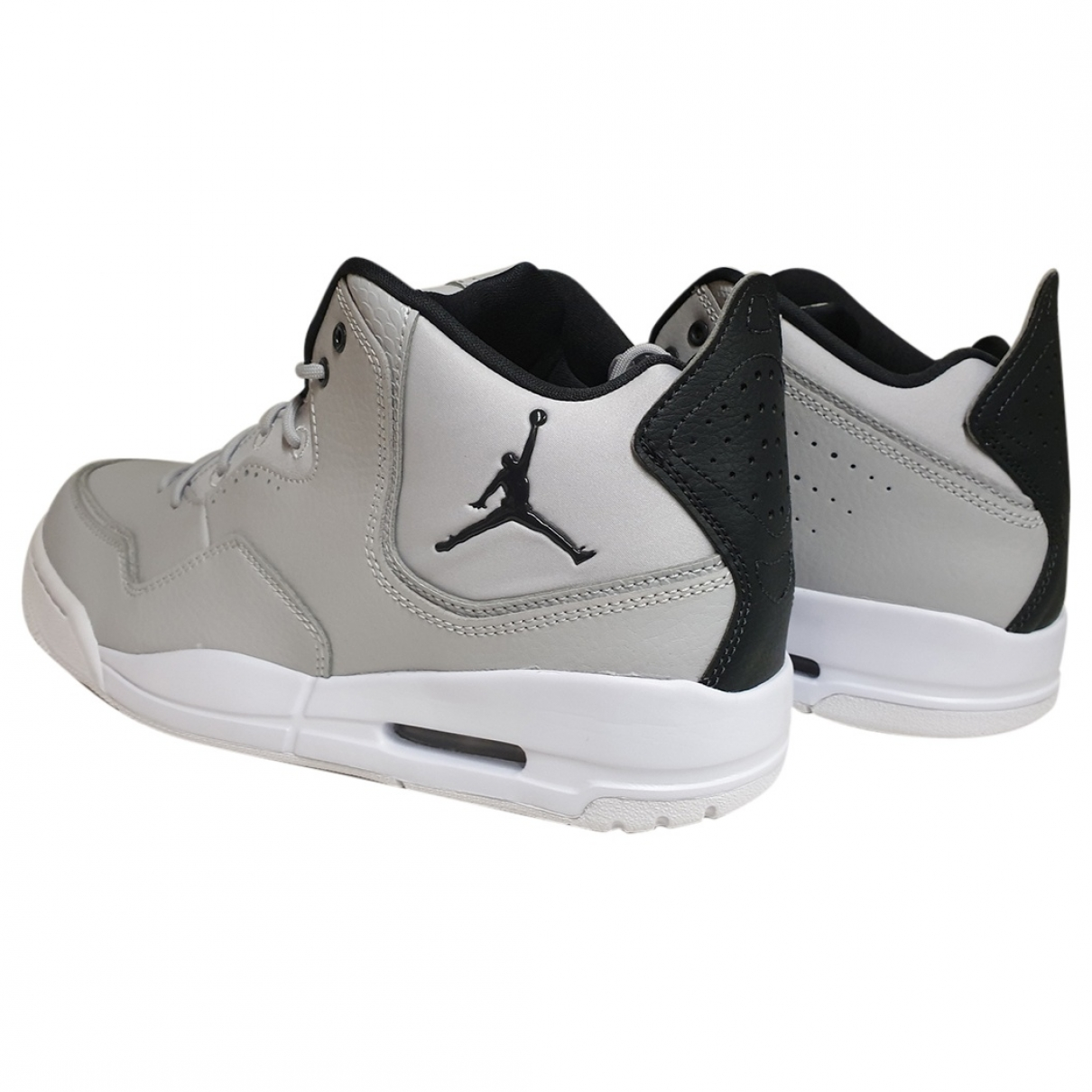 Jordan \N Grey Leather Trainers for Men 41 EU