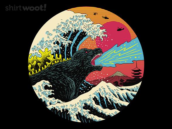 Retro Wave Kaiju T Shirt
