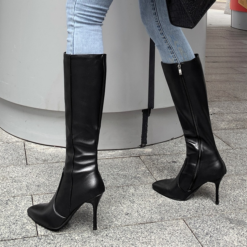 Ericdress Pointed Toe Stiletto Heel Plain Professional Boots