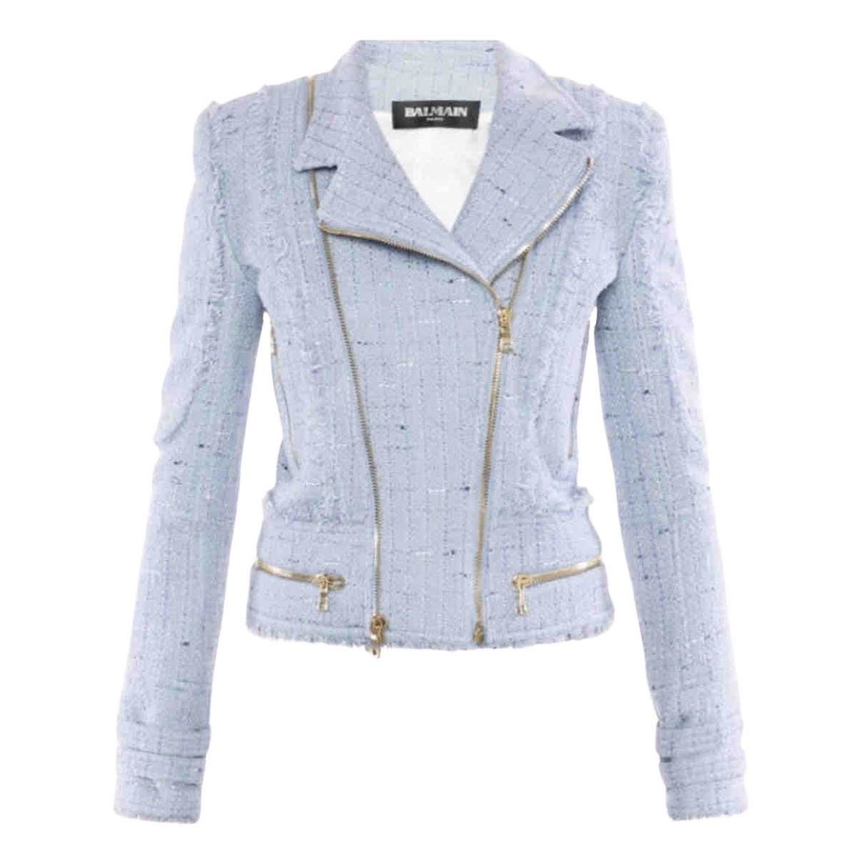 Balmain N Blue Tweed jacket for Women 36 FR