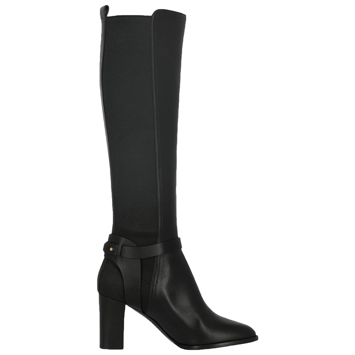 Ralph Lauren - Bottes   pour femme en cuir - noir