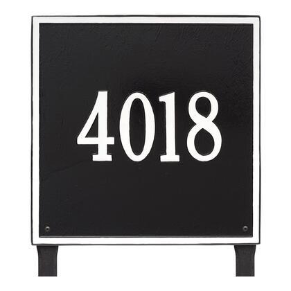 2119BW Personalized Square Plaque - Estate - Lawn - 1 line in