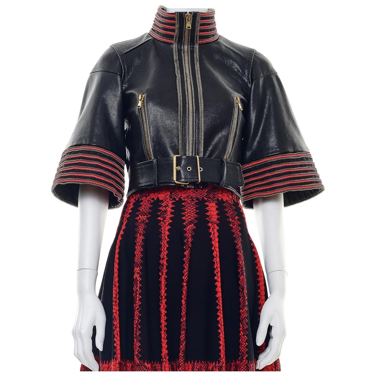Alexander Mcqueen \N Black Leather jacket for Women M International