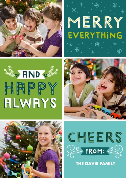 Christmas Photo Cards 5x7 Cards, Premium Cardstock 120lb, Card & Stationery -Happy Always