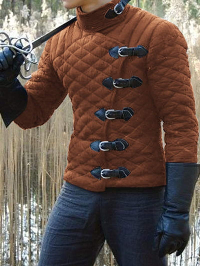 Ericdress Stand Collar Plain European Single-Breasted Men's Down Jacket