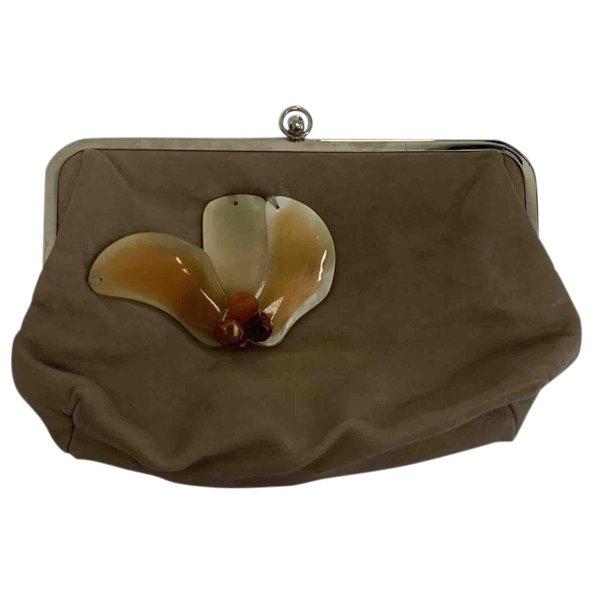 Marni - Pochette   pour femme en cuir - beige