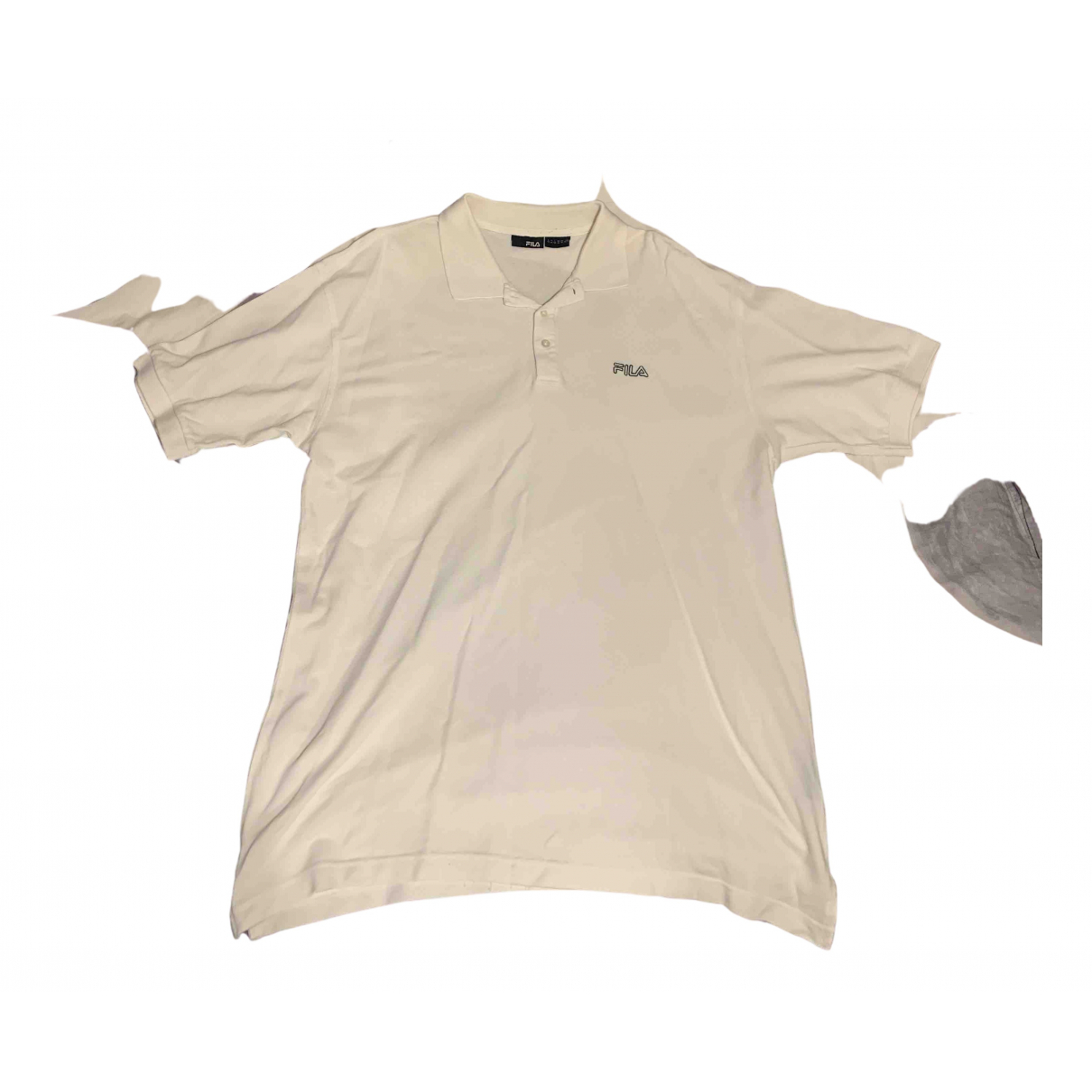 Fila - Polos   pour homme en coton - blanc