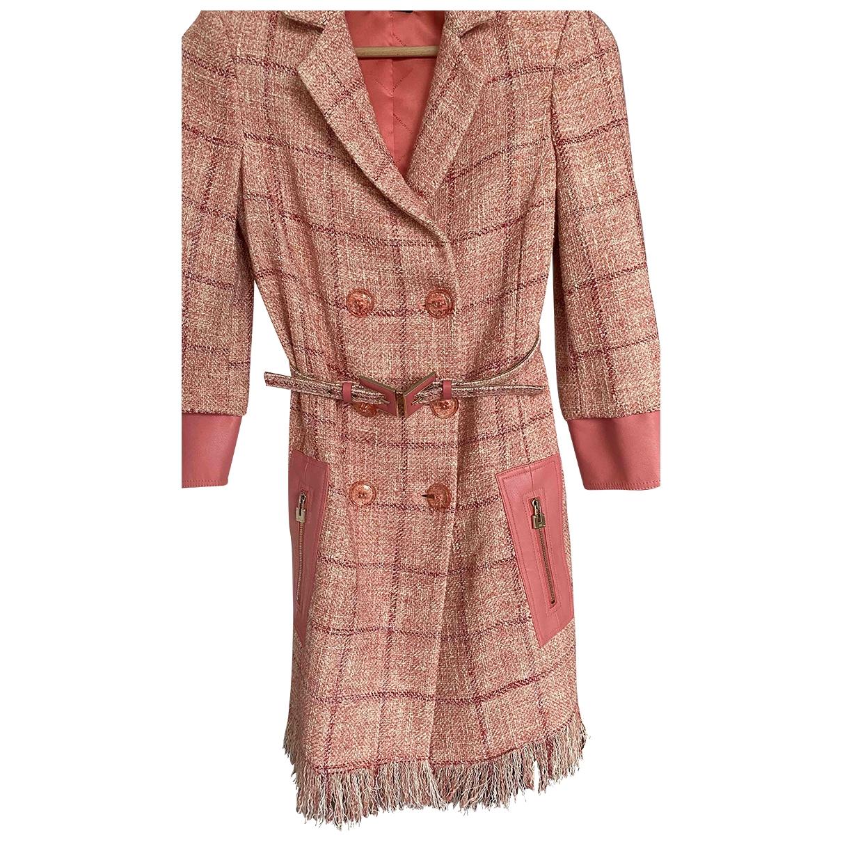 Elisabetta Franchi \N Pink Cotton dress for Women 38 FR