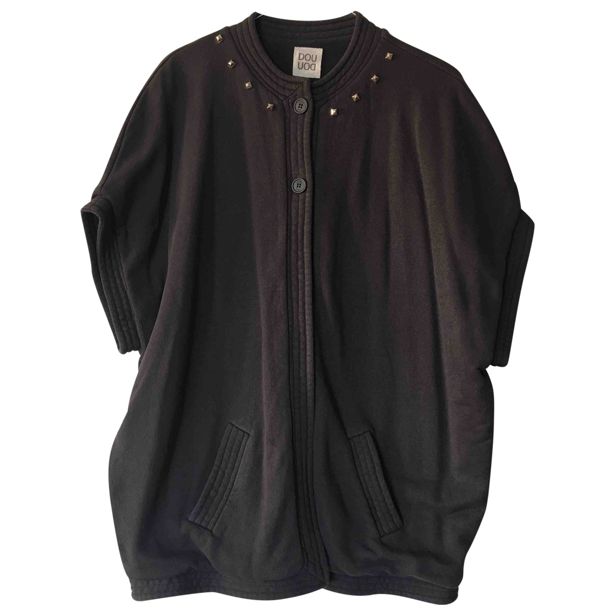 Douuod \N Pullover in  Grau Baumwolle