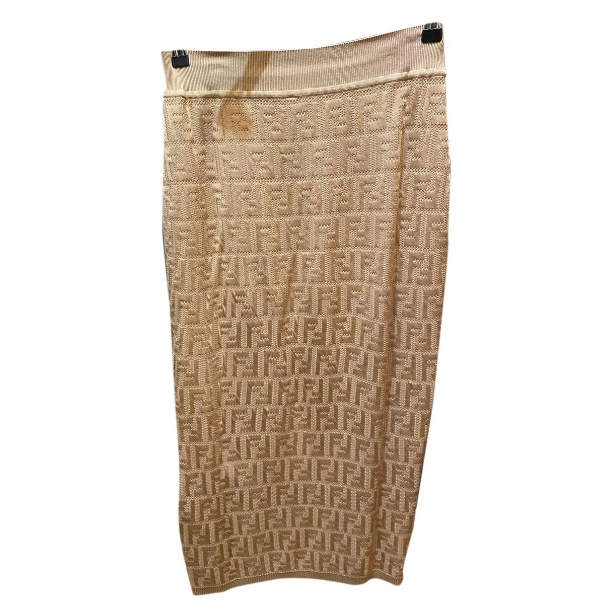 Fendi N Brown Cotton - elasthane skirt for Women 44 IT
