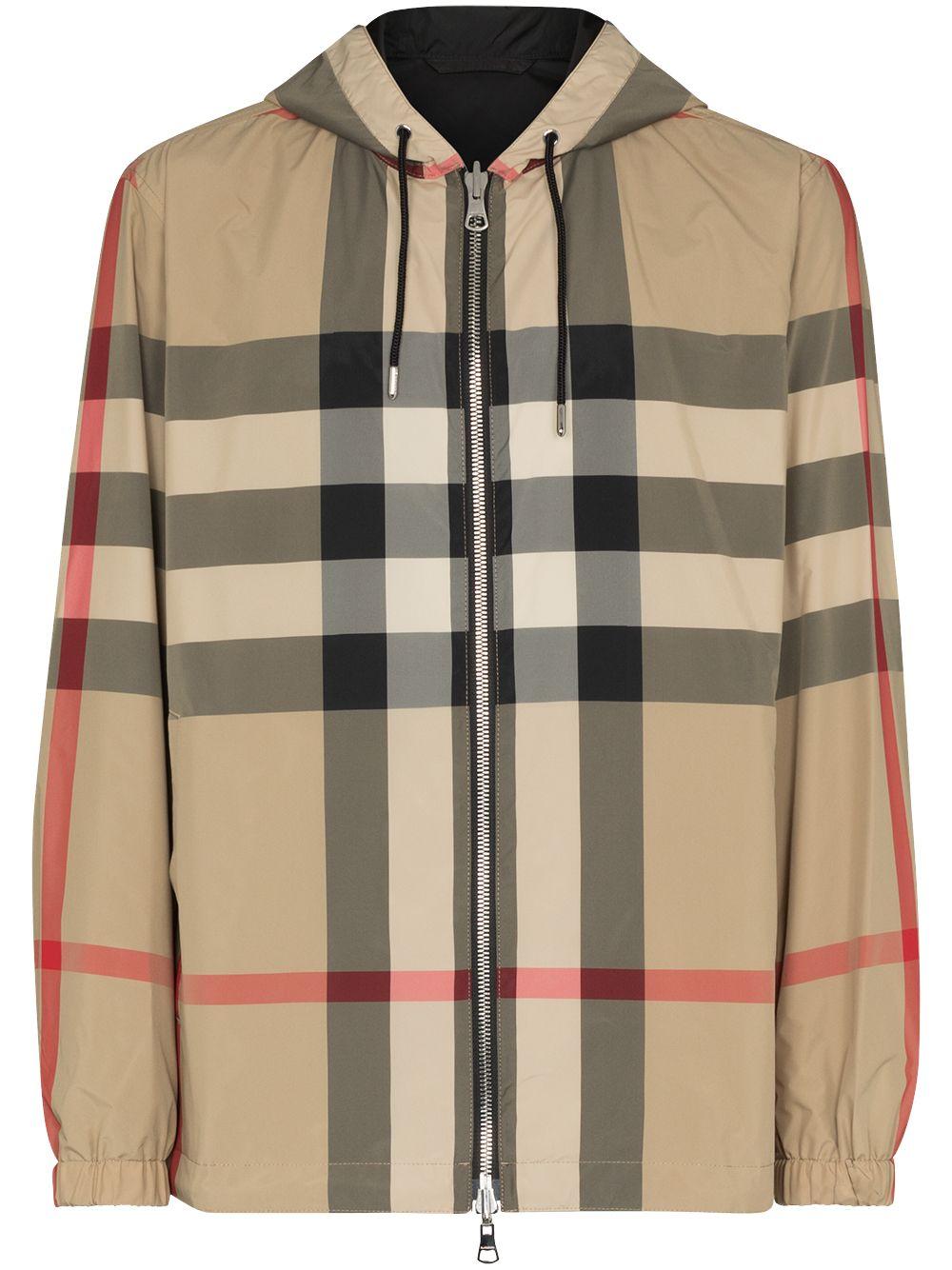Check Print Windbreaker Jacket
