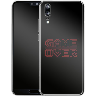 Huawei P20 Silikon Handyhuelle - The Game Over von caseable Designs