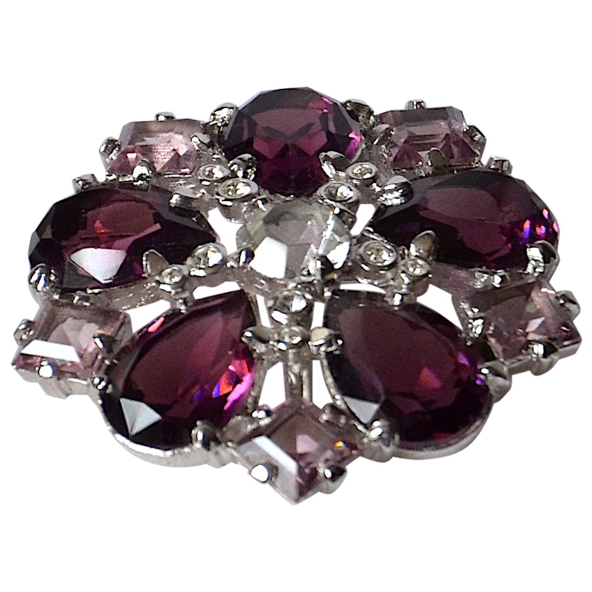 Dior - Broche   pour femme en cristal - violet