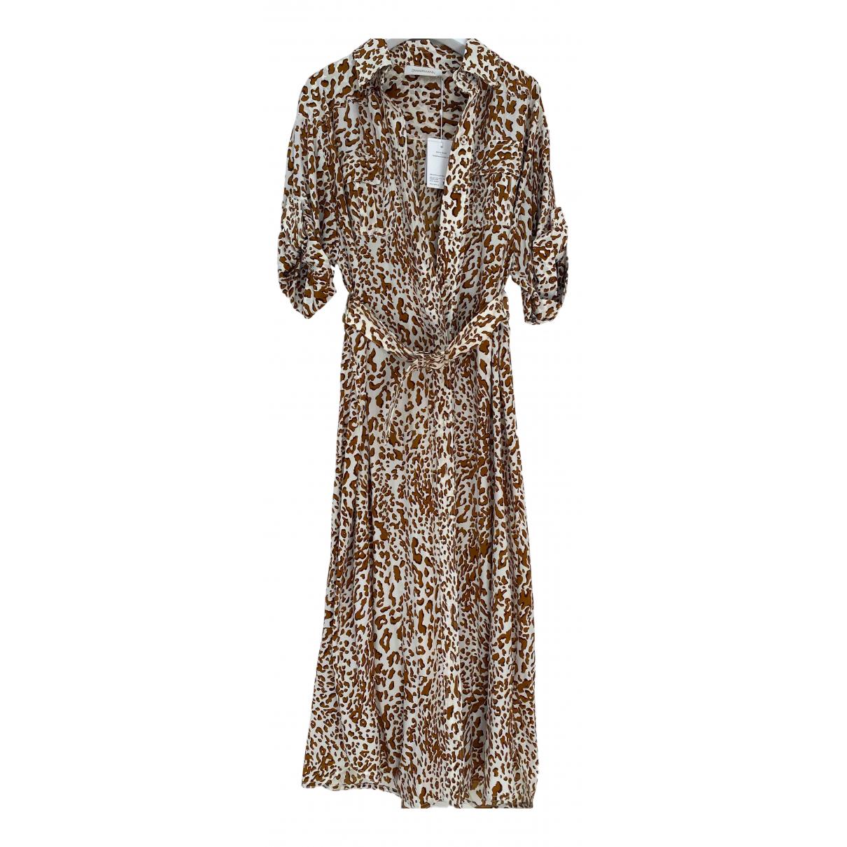 Zimmermann N Brown Silk dress for Women 12 UK