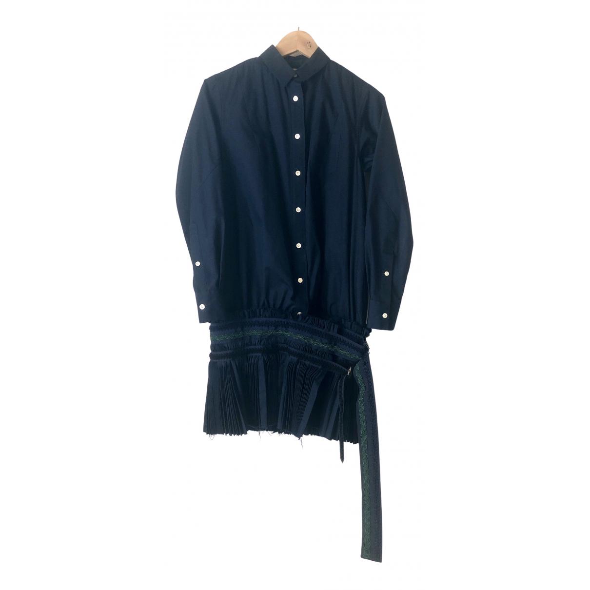 Sacai - Robe   pour femme - marine