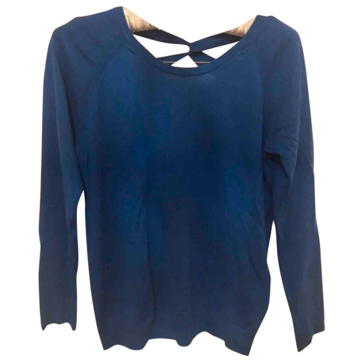 Sandro N Blue Cotton Knitwear for Women 36 FR