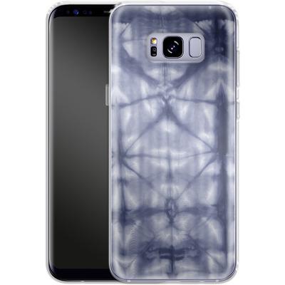 Samsung Galaxy S8 Plus Silikon Handyhuelle - Tie Dye 2 Navy von Amy Sia