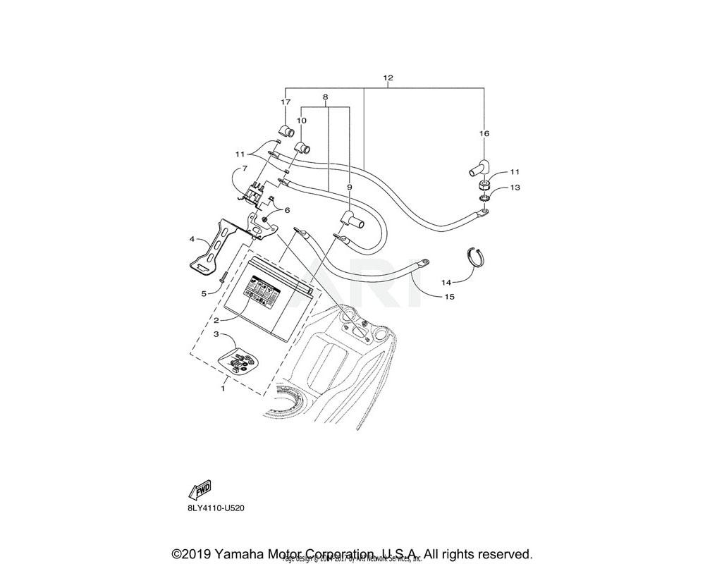 Yamaha OEM 8KC-RA229-00-00 SCREW
