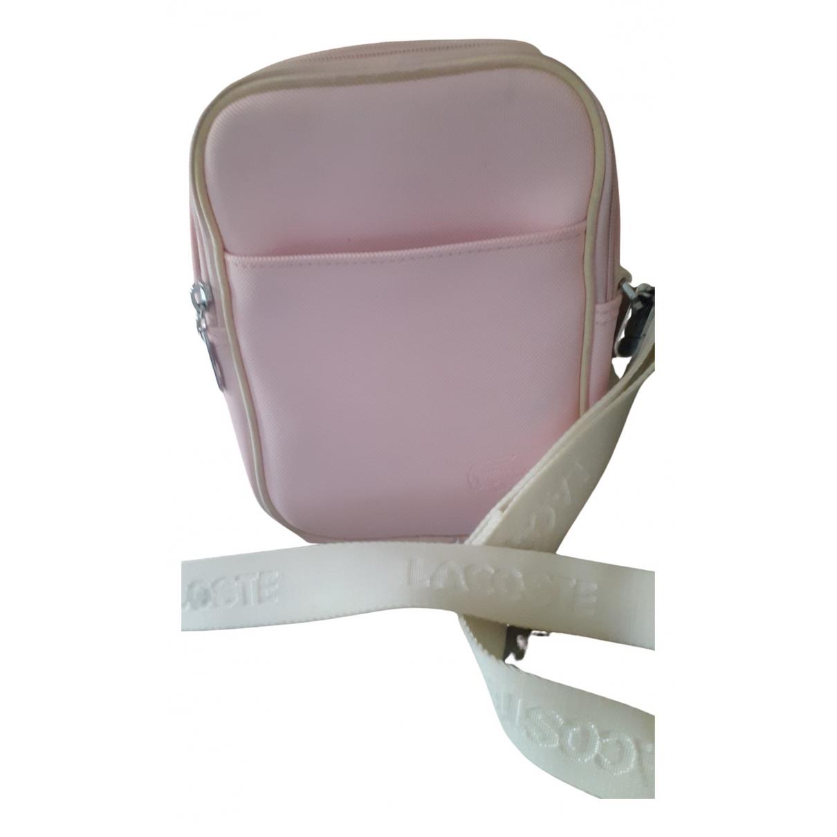 Lacoste \N Clutch in  Rosa Kunststoff