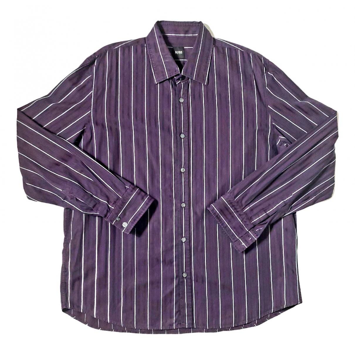 Boss - Chemises   pour homme en coton - violet