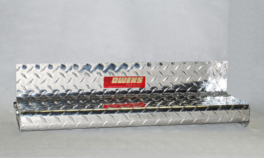 Owens Products OCG8423EX Running Boards Classic Series Diamond 4 Inch 14-18 Sierra 1500 6.5 Ft Short Bed Aluminum