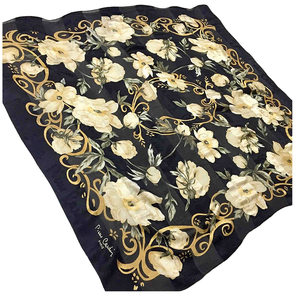 Pierre Cardin \N Black Silk scarf for Women \N