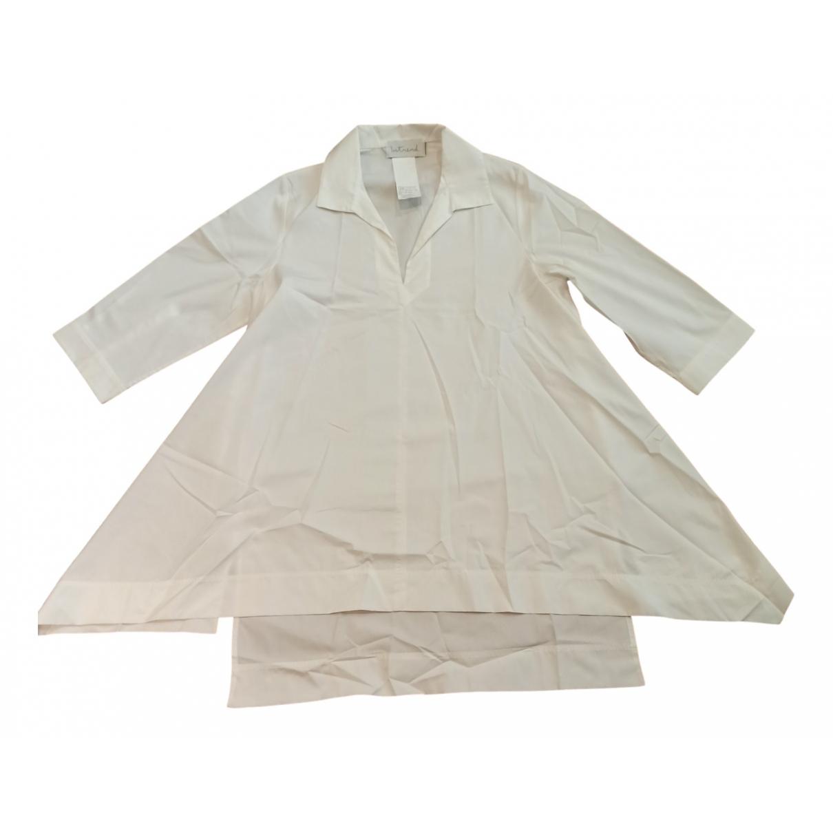 Intrend - Top   pour femme en coton - blanc