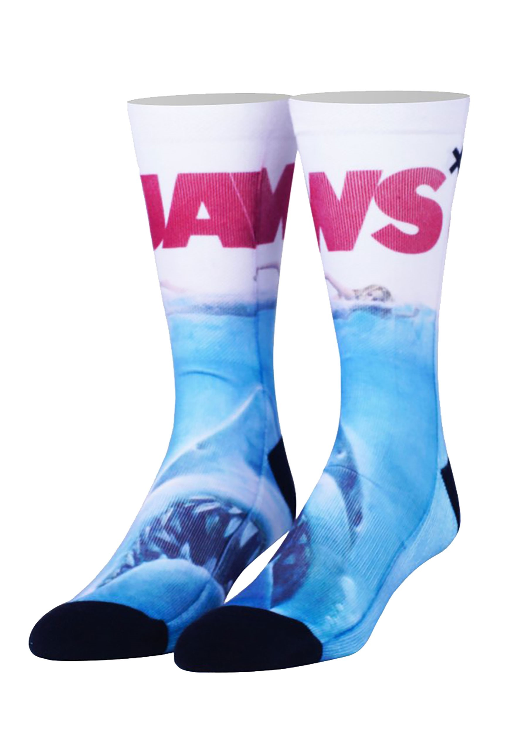 Jaws Cover Adult Sublimated Crew Socks