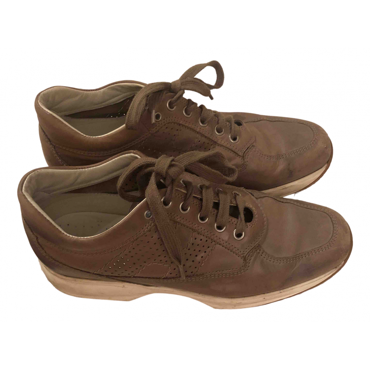 Hogan \N Sneakers in  Beige Leder