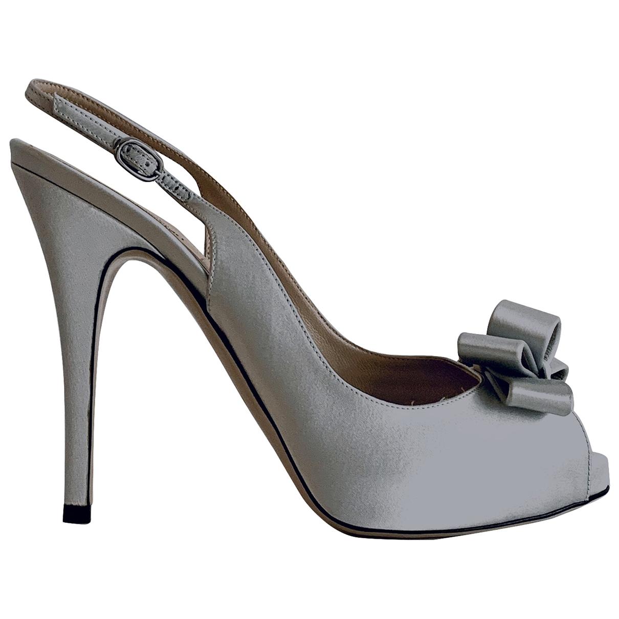 Valentino Garavani - Sandales   pour femme en toile - argente