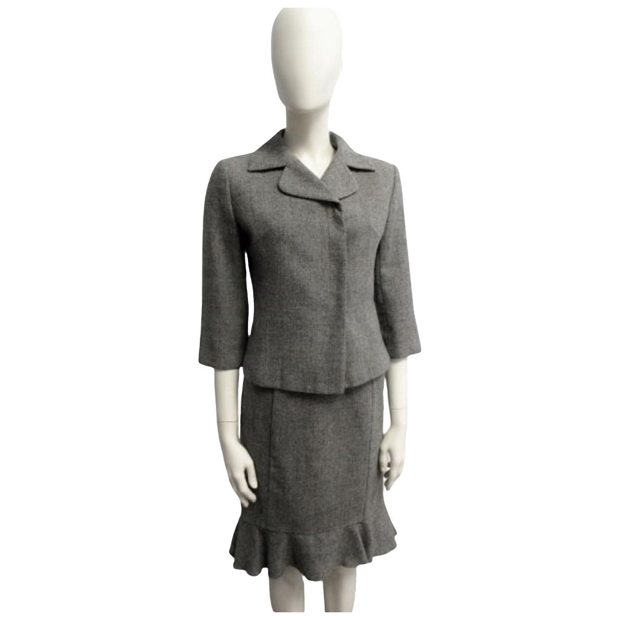 Balenciaga \N Rocke in  Grau Wolle