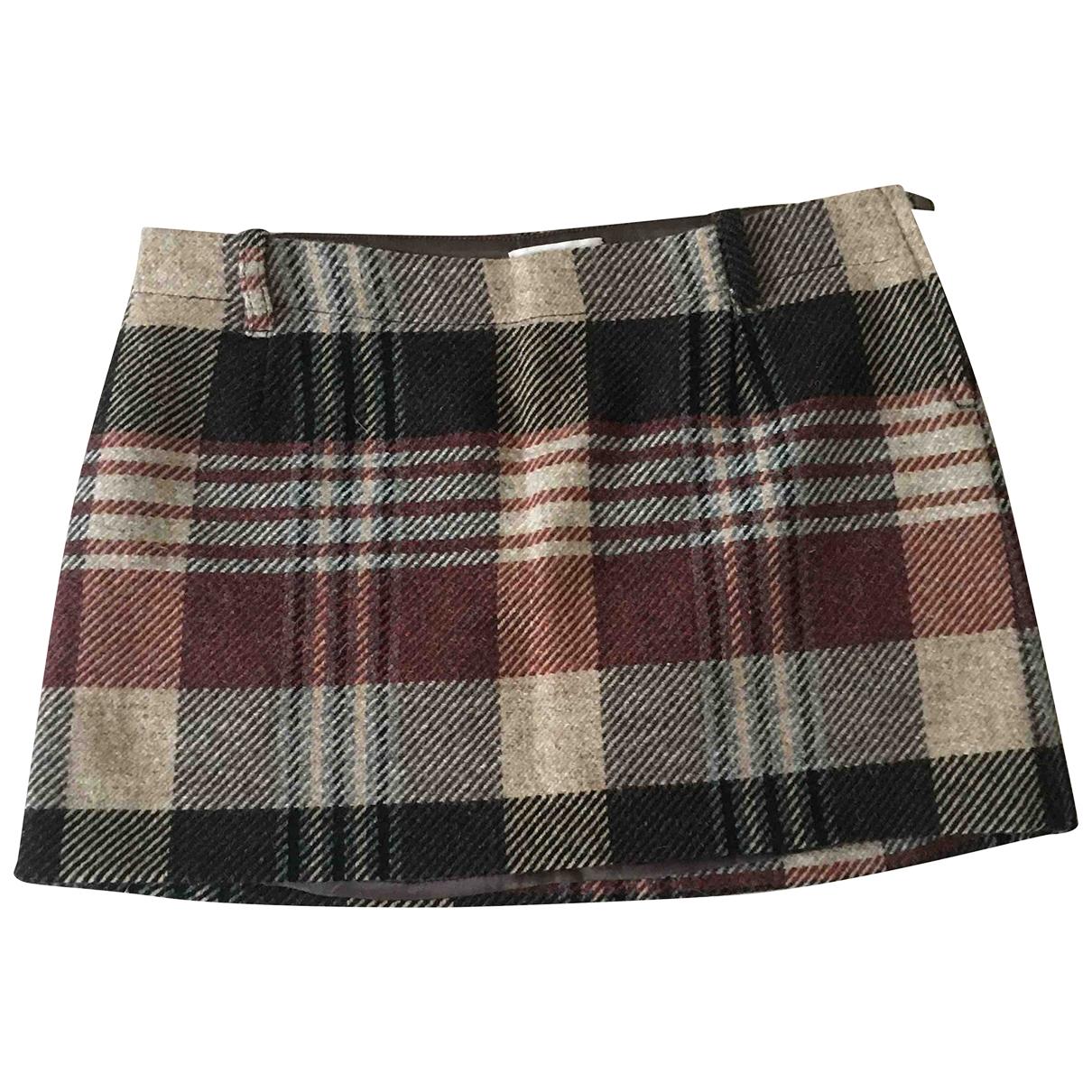 Pinko - Jupe   pour femme en laine - marron