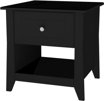 200806 Tuxedo Collection End Table with 1 Drawer and 1 Open Section  in