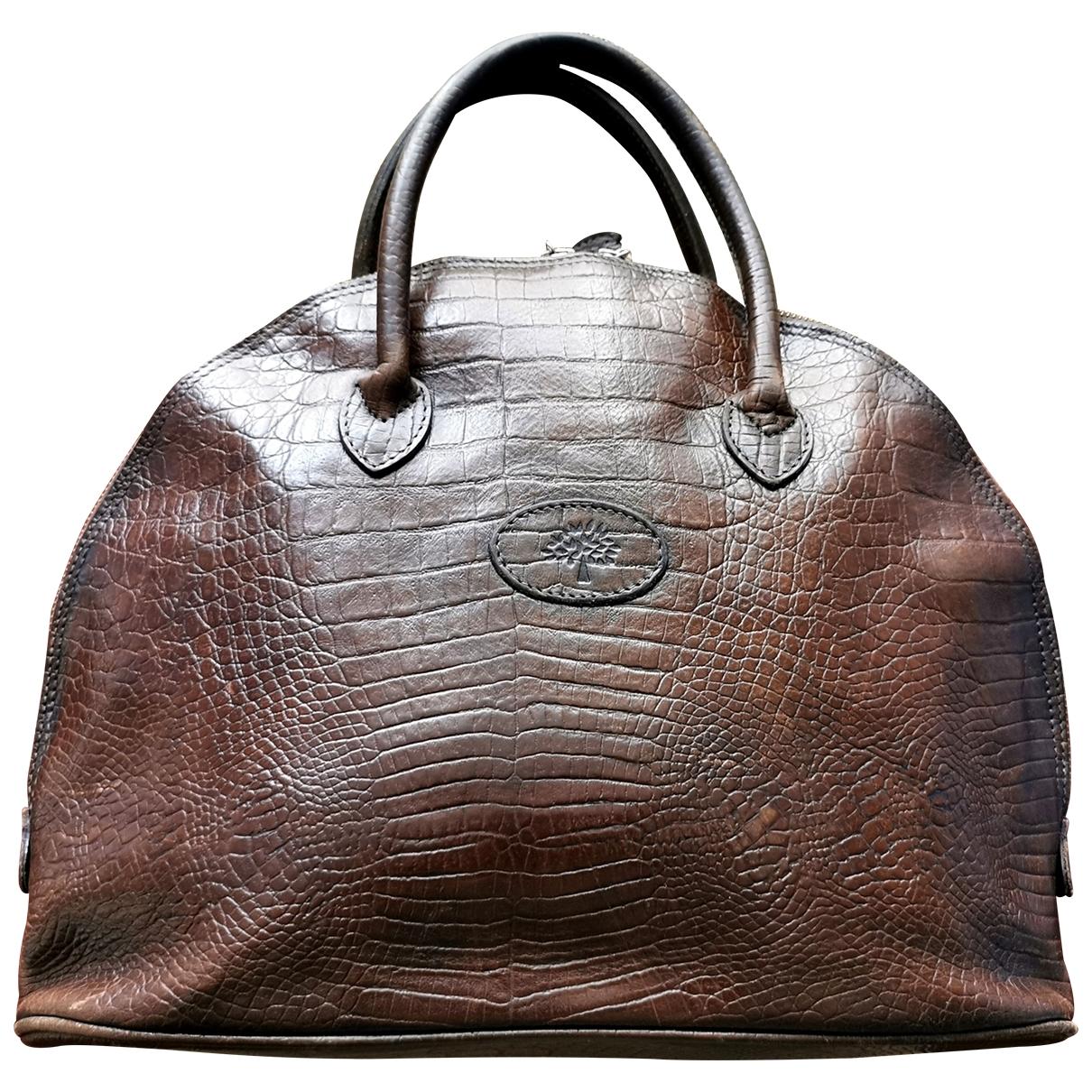 Mulberry \N Handtasche in  Braun Leder