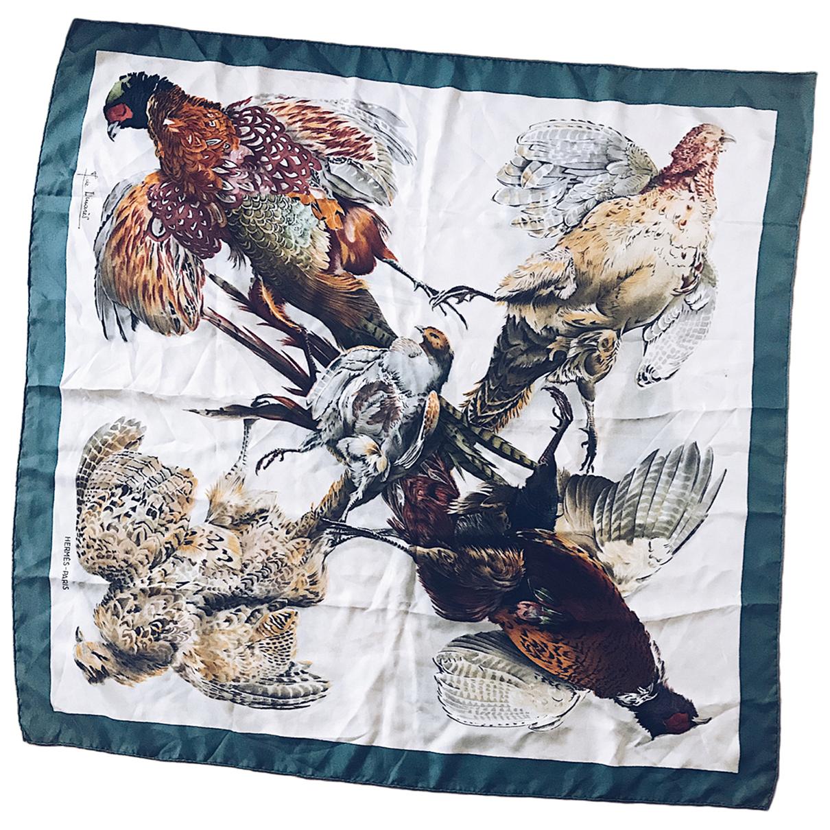 Hermès Carré 90 Ecru Silk Silk handkerchief for Women N