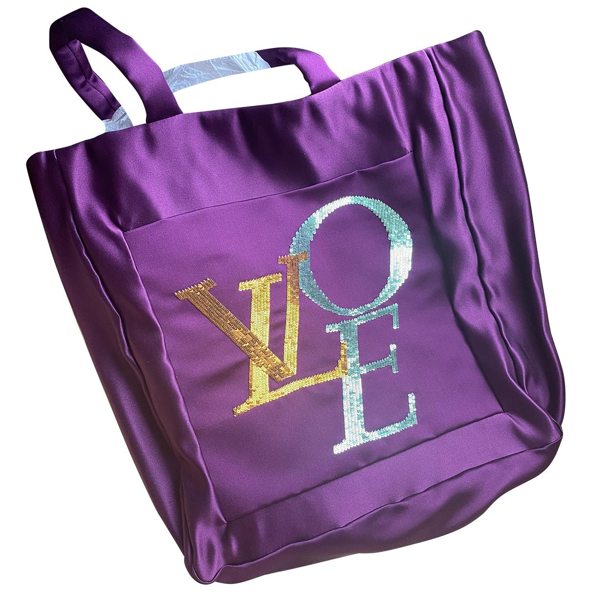 Louis Vuitton \N Purple Cloth handbag for Women \N