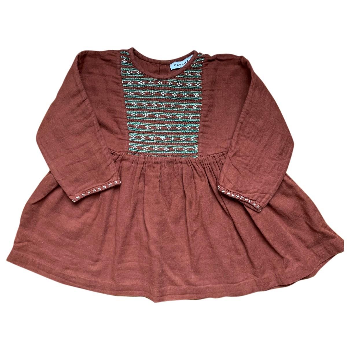Caramel Baby & Child - Robe    pour enfant en coton - marron