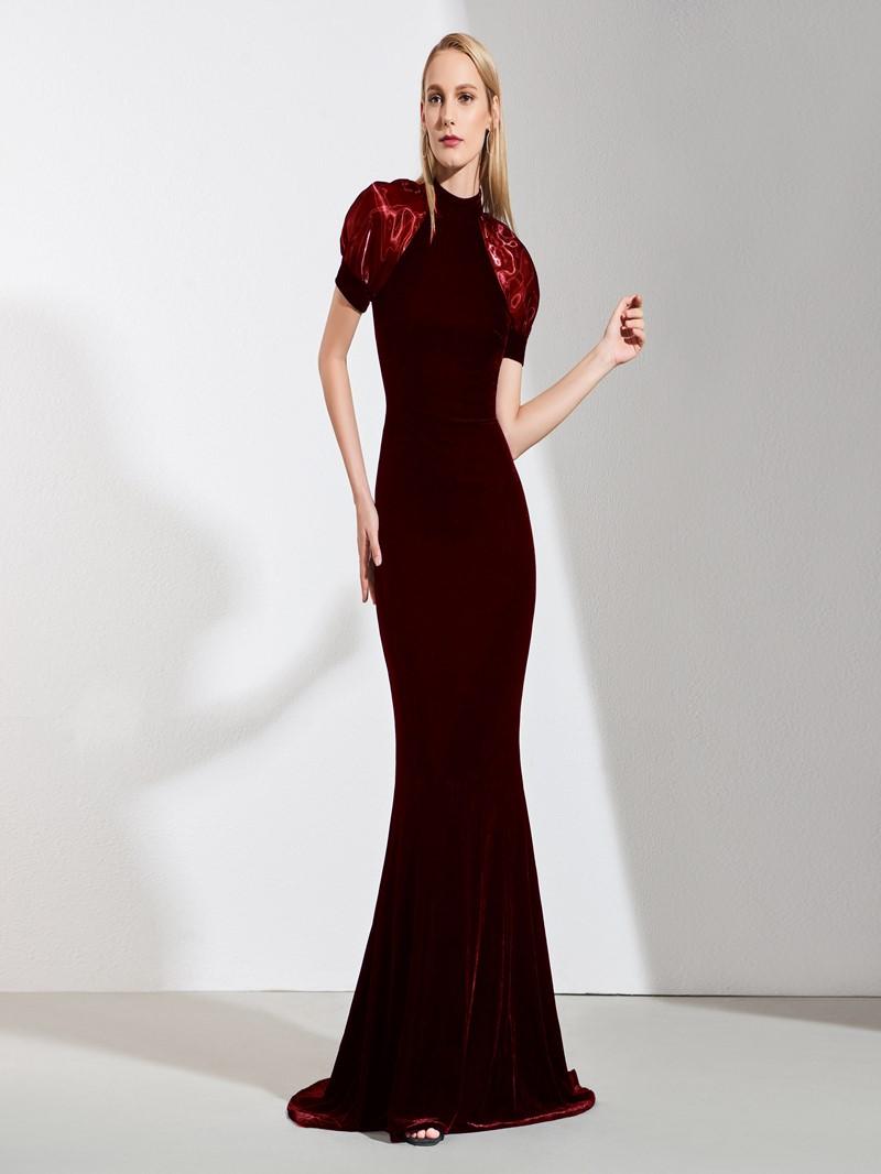 Ericdress Short Sleeve Mermaid Vintage Evening Dress