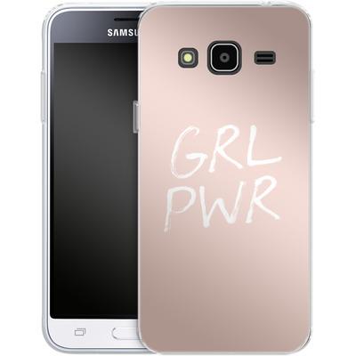 Samsung Galaxy J3 (2016) Silikon Handyhuelle - GRLPWR Rose von caseable Designs