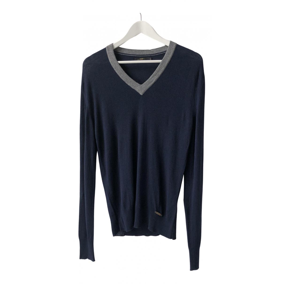 Burberry \N Pullover.Westen.Sweatshirts  in  Blau Viskose