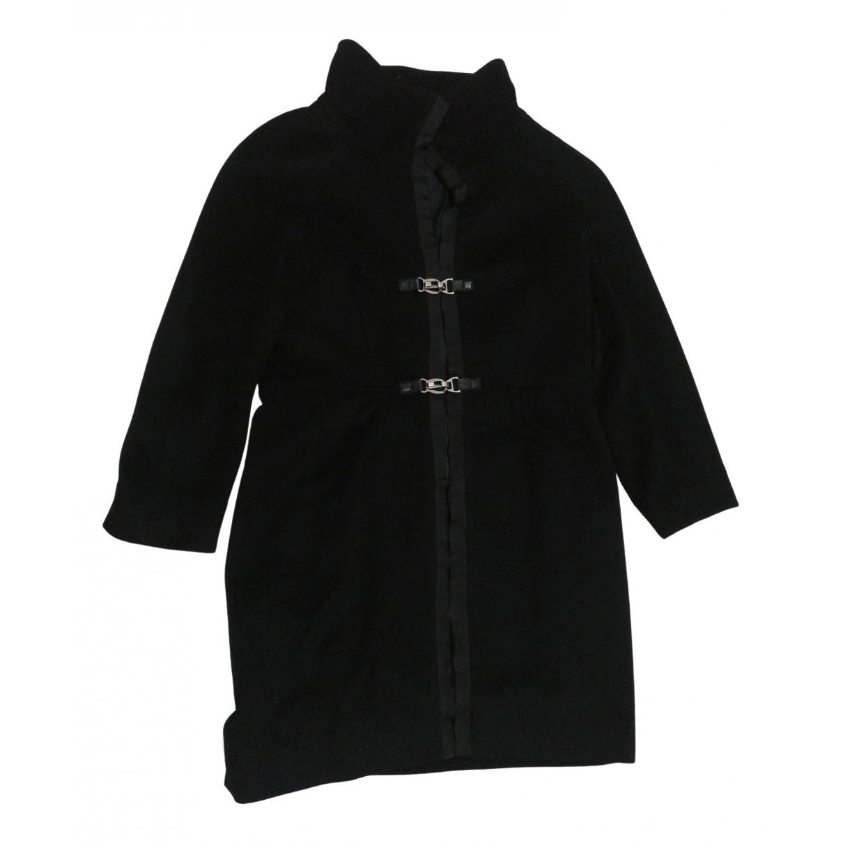 Max Mara N Black Wool coat for Women 46 IT