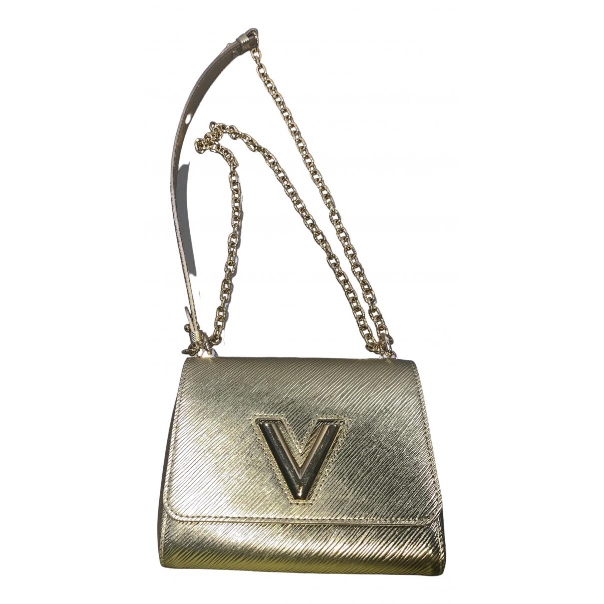 Louis Vuitton - Sac a main Twist pour femme en toile - dore