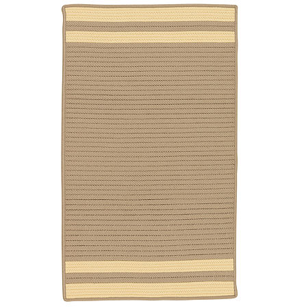 Colonial Mills Sonoma Accent Stripe Braided Rectangular Reversible Indoor/Outdoor Rugs, One Size , Yellow